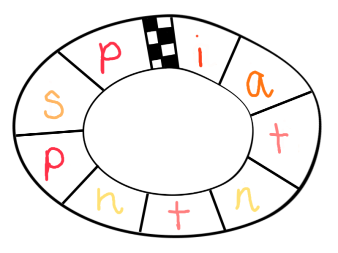 Draw a racetrack and write single letter sounds on it. Use a dice to take turns to move around the board, reading the letter sounds