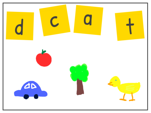 Play this quick and easy phonics game. Say the name of an object. Work out the beginning sound and find the corresponding letter.