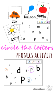 Circle the letters phonics activity