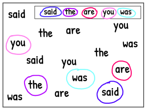 Phonics games to teach tricky words