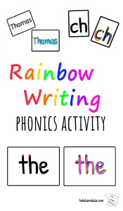Rainbow Writing Phonics Activity