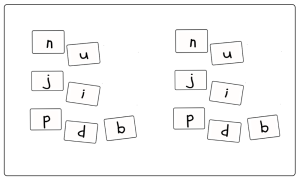 Play this fun phonics game to learn the differences between similar letters of the alphabet.