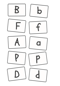 Play this fun phonics game to learn upper and lower case letters.