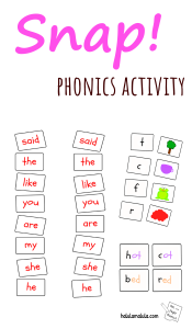 Quick and Easy Phonics Activity Snap